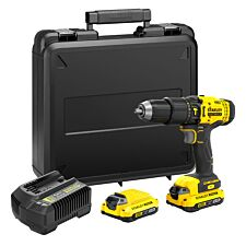 Stanley FATMAX V20 18V Combi Drill with 2x 2.0AH Lithium-Ion Batteries Charger & Carry Case