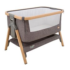 Tutti Bambini CoZee Fold Out Bedside Crib Oak and Charcoal