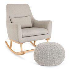 Tutti Bambini Oscar Rocking Chair and Pouffe Set Pebble