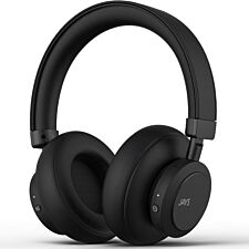 JAYS Q-Seven Wireless Headphones with Active Noise Cancelling - Black