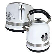 Ariette ARPK32 Moderna 1.7L Kettle and 2-Slice Toaster - White