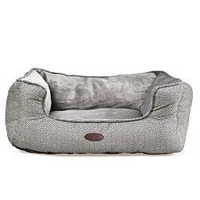 Charles Bentley Small Plush Soft Pet Bed - Grey