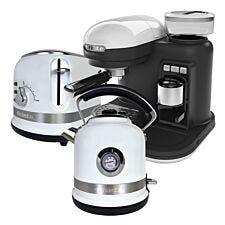 Ariette ARPK35 Moderna 1.7L Kettle, 2-Slice Toaster, & Espresso Coffee Maker - White