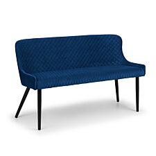 Julian Bowen Luxe High Back Bench Blue