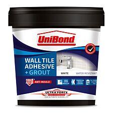 UniBond Ultraforce Wall Tile Adhesive  & Grout - 1.38kg