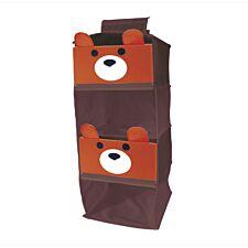 Jocca Children's Bear Shelf Organiser with 4 Shelves - Brown