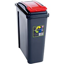 Haven 25L Recycling Bin - Red
