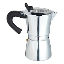 KitchenCraft World of Flavours 6 Cup Coffee Maker - Silver