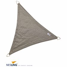 Nesling Coolfit 3.6m Triangle Shade Sail with Accessory and Fixing Kit - Grey