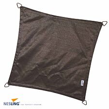 Nesling Coolfit 3.6m Square Shade Sail with Accessory and Fixing Kit - Grey