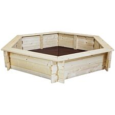 Charles Bentley Hexagonal FSC Wood Sand Pit