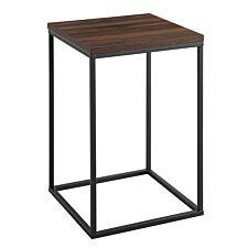 Modern Square Side Table - Dark Walnut