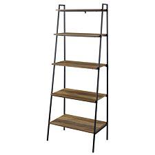 "72"" Industrial Modern Ladder Bookcase - Reclaimed Barnwood"