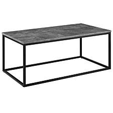 Mixed Material Coffee Table - Faux Concrete