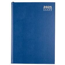 Ryman Diary Day to View A4 2021 - Blue