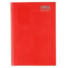 Ryman Diary Week to View A5 2021 - Red