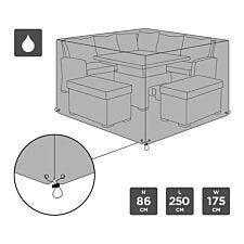 Charles Bentley Waterproof Large Rectangular Furniture Cover - Black