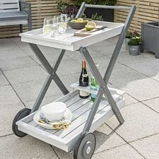 Florenity Grigio Drinks Trolley - Grey