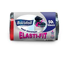 Bacofoil 50L Elasti-Fit Kitchen Bin Liners - Pack of 10