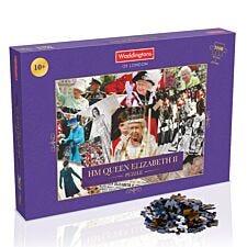 Waddingtons HM Queen Elizabeth II Montage 1000pc Jigsaw Puzzle