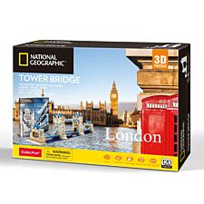 National Geographic 3D Jigsaw Puzzle 120pc Tower Bridge London