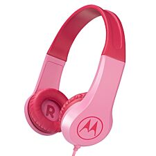 Motorola SQUADS200PN Squads 200 Kids Wired Headphones with Anti-Allergic Cushion Pads - Pink