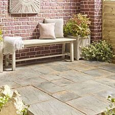 Kelkay Abbey Random Slab Paving Kit 5.76m - Antique Grey