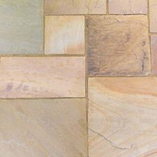 Kelkay Natural Sandstone Patio Kit 10.2m - Scottish Glen Grey