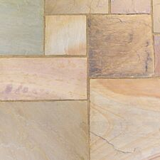 Kelkay Natural Sandstone Patio Kit 15.3m - Scottish Glen Grey