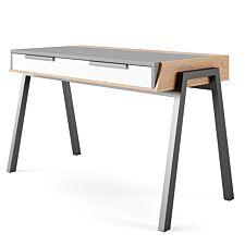 Solstice Arpina Desk - Grey/White/Walnut