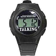 Aidapt Talking Digital Wrist Watch - Black