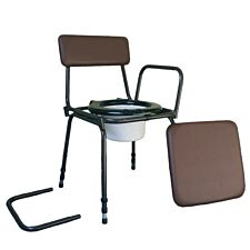 Aidapt Surrey Height Adjustable Commode Chair with Detachable Arms - Brown