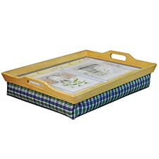 Aidapt Wooden Lap Tray with Cushion - 10x49.5x38.5cm