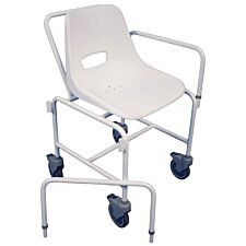 Aidapt Charing Attendant Propelled Shower Chair - White