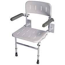 Aidapt Solo Deluxe Shower Seat No Padding - White