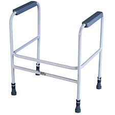Aidapt Free Standing Ashford Height Adjustable Toilet Frame - White & Grey