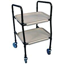 Aidapt Height Adjustable Strolley Trolley - Brown & Cream