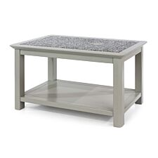 Perth Open Coffee Table With Stone Top Grey