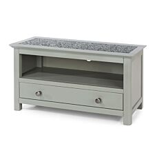 Perth TV Unit With Drawer Stone Top Grey