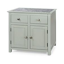Perth 2 Door Sideboard With 2 Drawers Stone Top Grey