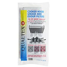 Qualtex Cooker Hood Grease & Odour Filters - Cut to Size Pack of 4