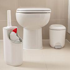Addis Toilet Brush & Bottle Holder - White/Grey