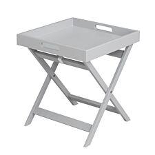 Village At Home Javis Folding Butler Tray Table Grey