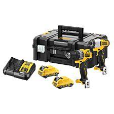 Dewalt DCK2110L2 12v XR Brushless Sub-Compact Twin Pack 3.0Ah Kit - Black & Yellow