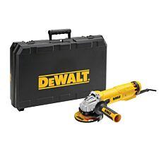 Dewalt DWE4206K 115mm Mini Grinder with Kitbox 1010W 240V - Black & Yellow