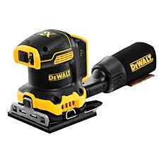 Dewalt DCW200N 18V XR Brushless 1/4 Sheet Palm Sander Bare Unit - Black & Yellow