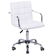 Zennor Perch PU Leather Chair - White