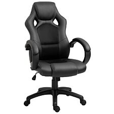 Equinox Bolt PU Leather Gaming Chair - Black