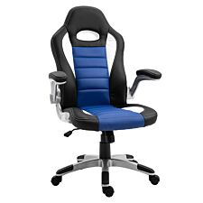 Equinox Get Set PU Leather Gaming Chair - Black/Blue/White