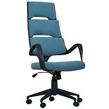 Solstice Hosta Linen Office Chair - Blue/Black